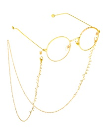 Fashion Gold Copper Triangle Glasses Chain