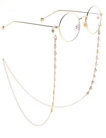 Fashion Gold Chain Gold Hollow Heart Chain Glasses Chain