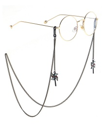 Fashion Black Hanging Neck Cartoon Windmill Chain Glasses Chain
