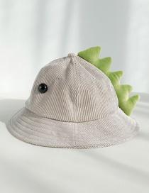 Fashion Dinosaur Gray With Eyes Corduroy Cartoon Children's Cap