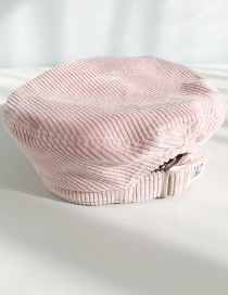 Fashion Overlapping Letter K Pink Corduroy Beret