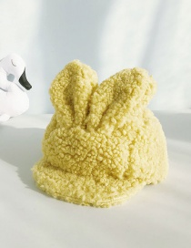Fashion Lamb Hairy Yellow Lamb Velvet Rabbit Ears Soft Baby Baseball Cap
