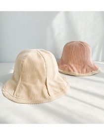 Fashion Corduroy Double-sided Beige Corduroy Pit Strips On Both Sides Wearing Fisherman Hats