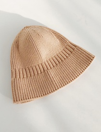 Fashion Wool Bucket Cap Beige Knit Fisherman Hat