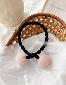 Fashion Pink Ball Cherry Water Mane Knotted Hair Ring