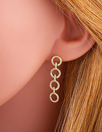 Fashion Circle Geometric Circle S925 Silver Pin Earrings