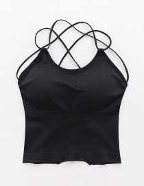 Fashion Black Back Cross Vest Sling