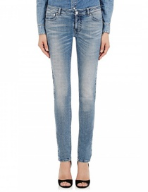 Fashion Blue High-elastic High-rise Jeans