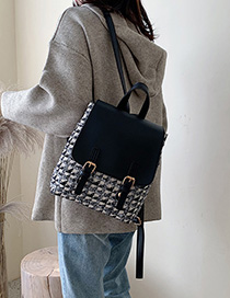 Black Contrast Shoulder Bag