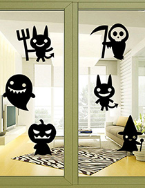 Fashion Multicolor Kst-24 Halloween Little Ghost Wall Sticker