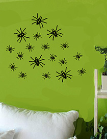 Fashion Multicolor Kst-12 Halloween Spider Wall Stickers