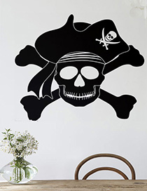 Fashion Multicolor Kst-57 Halloween Skull Wall Sticker