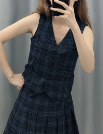 Fashion Lattice Plaid Vest