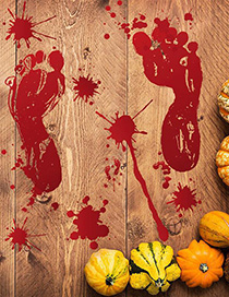 Fashion Multicolor 31005 Halloween Blood Footprints Wall Sticker