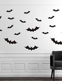Fashion Multicolor Kst-17 Halloween Bat Wall Sticker Eco Friendly
