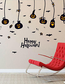 Fashion Color Sk9094 Halloween Pumpkin Wall Sticker