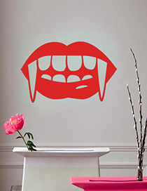 Fashion Red Kst-50 Halloween Vampire Tooth Wall Sticker