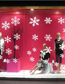 Amj301 Christmas Snowflakes Llegó A La Etiqueta De La Pared