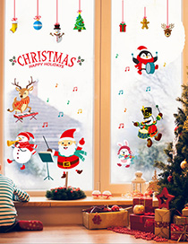 Fashion Color Hm92016ds Christmas Concert Pvc Wall Stickers