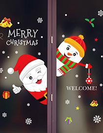 Fashion Color Xh6253 Santa Claus Self-adhesive Seamless Wall Wallpaper