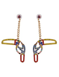 Fashion Red Color Animal Woodpecker Earrings