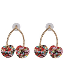 Fashion Color Cherry Earrings