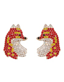 Fashion Red Fox Red Earrings
