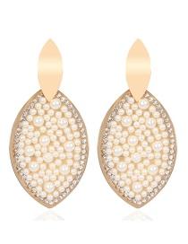 Pendientes De Ojo De Perlas Con Diamantes