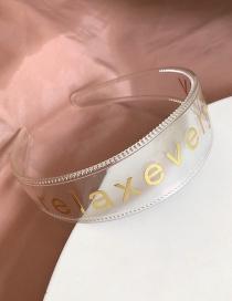 Fashion Transparent Letter Headband