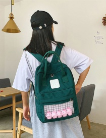 Fashion Dark Green Cartoon Little Yellow Duck Transparent Backpack