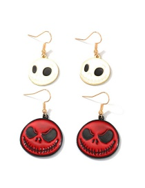 Fashion Red Cartoon Ghost Head Alloy Drip Earrings