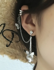 Fashion Silver Butterfly One Earring