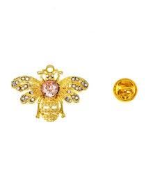 Fashion Gold Diamond-studded Brooch