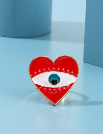 Fashion Red Alloy Drop Eye Ring