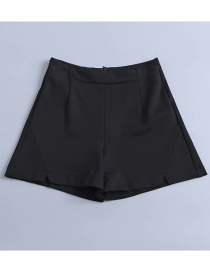 Fashion Black Split Short A Shorts