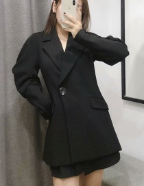 Fashion Black Pleated Sleeve Suit