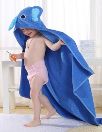 Fashion Blue Cotton Cartoon Animal Children's Bathrobe