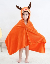 Fashion Elk Cartoon Headband Hooded Bathrobe