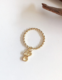 Fashion E Gold English Letter Ring