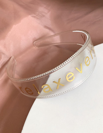 Fashion Transparent Golden Letter Headband