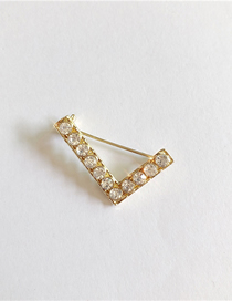 Fashion L Gold English Letter Brooch