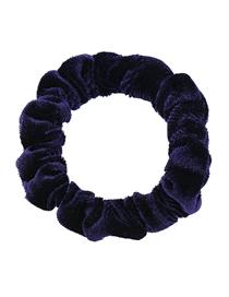 Fashion Navy Plush Large Intestine Elastic Seamless Cloth Hair Rope