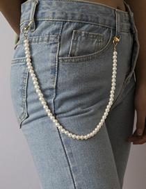 Cadena De Cintura De Perlas De Imitación De Cuentas Geométricas