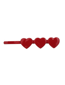 Fashion Red Love Alloy Poker Hair Clips
