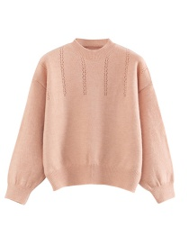 Fashion Pink Round Neck Sweater