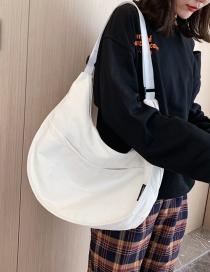 Fashion White Canvas Shoulder Messenger Bag