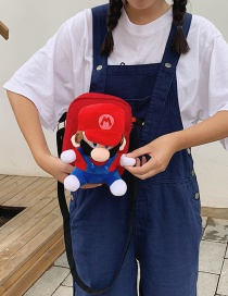Fashion Red Cartoon Doll Shoulder Messenger Bag