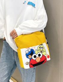 Fashion Yellow Canvas Slung Shoulder Bag