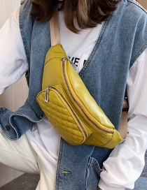 Fashion Yellow Lingge Diagonal Chest Bag