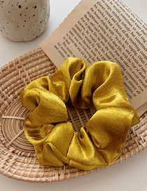 Fashion Yellow Silk Satin Large Intestine Ring Hair Ring